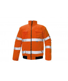 CLOVELLY jas refl. -oranje